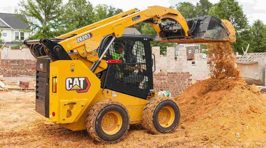 Minicargador para trabajos en el sector de la construcción
